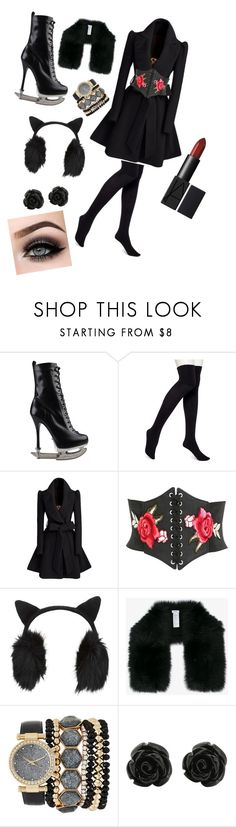 """""""rebel"""" by jasminehynes ❤ liked on Polyvore featuring Dsquared2, HUE, Pilot, Miss Selfridge, Inverni, Jessica Carlyle, ASAP and iceskatingoutfit"""