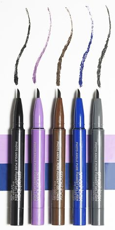 Smashbox's Photo Angle Pure Pigment Gel Liners is the brand's longest lasting liner yet. Create an amazing colorful cat eye with a bold blue or illuminating purple.  And the best part? No need to worry about smudging, flaking or fading!