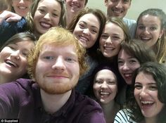 Ed Sheeran crashed Jess Knight's hospital birthday party and happily posed for selfies with her friends and family
