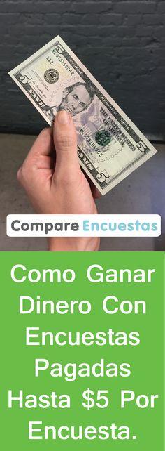 ¿Quieres ganar dinero en efectivo hoy mismo con encuestas en línea? Gana hasta $5 por encuesta, vales de regalo y productos gratuitos.