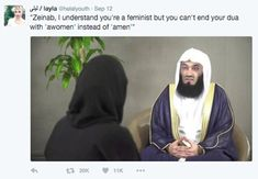 It's not clear who started it, but earlier this month an image of Menk taken from the interview became a gigantic meme.   Muslim Teens Have Made This Islamic Scholar Into A Gigantic Meme