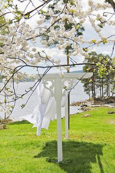 Beautiful spring day with fresh laundry on the clothesline. #spring