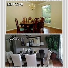 DIYife Dining Room Makeover On A BUDGET The Walls Are Painted With Behr Premium Paint Primer In Color Shitake