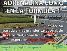 Tomorrowland Speedway es una interesante atracción en Magic Kingdom parque de Walt Disney World. Diseñada para tener una pequeña dosis de velocidad dónde hasta los más pequeños podrán conducir con toda seguridad ==> http://g2l.us/speedw