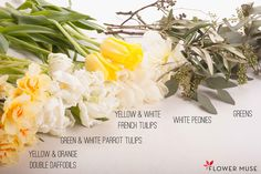 Yellow and White Spring Flowers Centerpiece - DIY instructions on Flower Muse blog: http://www.flowermuse.com/blog/yellow-white-spring-flowers-centerpiece/