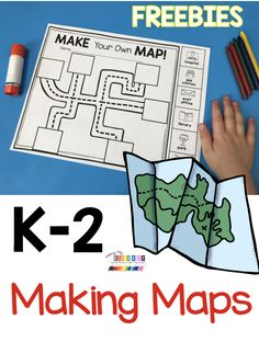 Teach your students how to read a map - FREEBIE map worksheet - kindergarten and first grade mapping skills - social studies and science for spring and Earth day activities - free printables and activ Social Studies Projects, Social Studies Classroom, Social Studies Activities, Teaching Social Studies, Teaching Map Skills, Kindergarten Social Studies Lessons, Learning Maps, Classroom Resources, Homeschool Kindergarten
