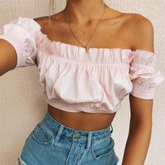 40 Off Shoulder Outfits to Look Stylish In Hot Summer Days - Outfit & Fashion Spring Summer Fashion, Spring Outfits, Trendy Outfits, Cute Outfits, Fashion Outfits, Womens Fashion, Dress Outfits, Winter Fashion, Dresses