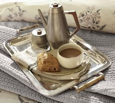 """$99 Silver-Plated Breakfast Tray 