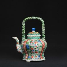 Famille Verte Teapot, China, Kangxi period