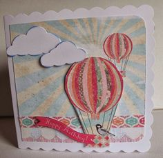 Craftwork Cards Blog Craftwork Cards, Balloons, Birthdays, Happy Birthday, Blog, Life, Card Ideas, Transportation, Inspiration