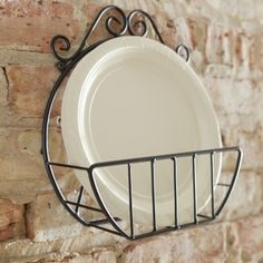 Paper Plate Holder Even your paper dinnerware will look lovely in this convenient and beautiful holder. Toy Kitchen, Kitchen Items, Kitchen Gadgets, Kitchen Storage, Paper Plate Holders, Paper Plates, Dish Organization, Western Kitchen Decor, Plate Storage