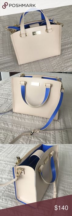 """Kate Spade purse Very light wear. Well loved but I have another one too much like this one. It's very practical and super cute. That  zipper compartment is super useful for all the stuff you don't want to lose.   Measurements: 9"""" by 8""""  Bundle and save Add to a bundle so I can send you my offer. kate spade Bags Satchels"""
