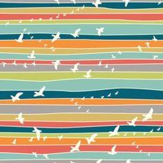 Tissu Coton Flight Stripe x 31 cm