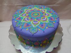 Mandala Cake by Anny's Cakes To Make, Fancy Cakes, Mini Cakes, How To Make Cake, Gorgeous Cakes, Pretty Cakes, Cute Cakes, Amazing Cakes, Cake Icing