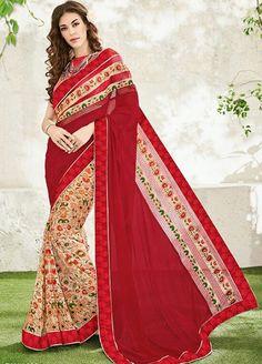 Unfathomable Digitally Printed Casual Wear Saree