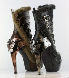 Polaro Black by Metropolis Hades | Steampunk Clothes and Shoes