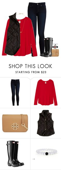""""""""""" by meljordrum ❤ liked on Polyvore featuring Paige Denim, Tory Burch, Kate Spade, J.Crew, Hunter, Olivia Pratt, women's clothing, women, female and woman"""