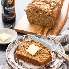 This Irish Guinness Brown Bread is a quick bread that just needs to be stirred together and baked! Perfect for breakfast or serving alongside stew!