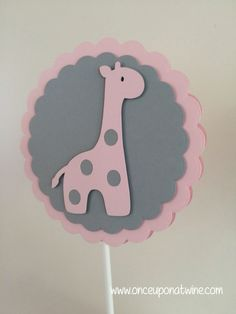 Pink GIRAFFE Baby Shower CENTERPIECE Table by OnceUponATwineDesign