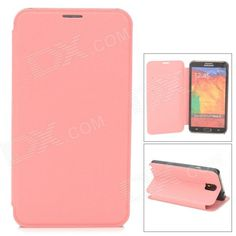 Color: Pink; Brand: N/A; Model: N/A; Material: PU leather; Quantity: 1 Piece; Compatible Models: Samsung Galaxy Note 3; Other Features: Protects your device from scratches, dust and shock; Packing List: 1 x Protective case; http://j.mp/1kUnK6j