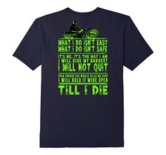 Amazon.com: Motocross i Will not quit till i Die Quote T-Shirt Design: Clothing