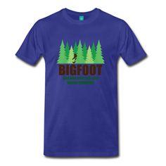 Bigfoot - Men's T-Shirt - Men's Premium T-Shirt  / Cool And Funny Tshirts / 3XL 4XL 5XL Big And Tall Tees / teessauce.com