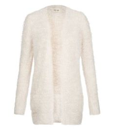 Cream Fluffy Textured Open Front Cardigan. New look. £24.99