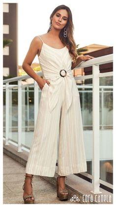 Macacão: Dicas de como usar a peça única Modern Outfits, Casual Outfits, Cute Outfits, Diva Fashion, Womens Fashion, Stitch Fix Outfits, Jumpsuit Outfit, Flapper Style, Summer Fashion Outfits