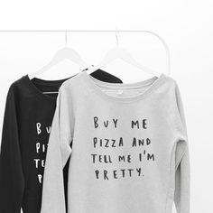 Buy Me Pizza Women's Scoop Neck Sweatshirt