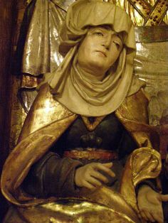St Anne´s altarpiece from Sabinov, c 1515-1520, shrine detail, St Anne    provenance: from the parish church of St John the Baptist, Sabinov, Šariš county, Slovakia    carved by the follower of Master Paul of Levoča