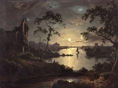 Moonlit Landscape, 1928 by John Doyle.