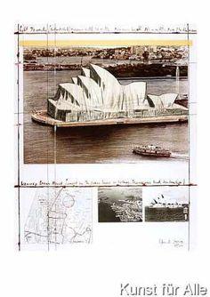 "Christo & Jeanne-Claude, ""Wrapped Opera House (Project for the Opera House in Sydney, Bennelong, Australia)"". Casablanca, Bulgaria, Spark Art, New York City Central Park, Christo And Jeanne Claude, Past Papers, Gcse Art, Land Art, World Heritage Sites"