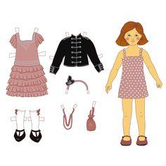 Une poupée de papier en veste officier à télécharger, découper et habiller ! - Marie Claire Idées