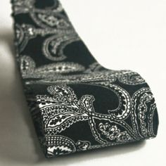 Wide Black & White Paisley Print Fabric Headband, $10.00. The perfect headband for work!