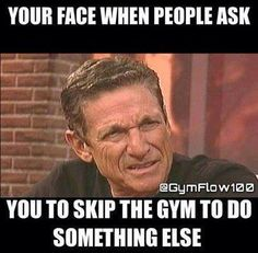 And if it's for food... I usually skip