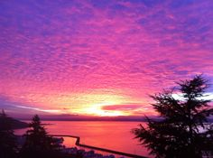 Seattle Sunset, over Puget Sound
