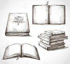 24632241-conjunto-de-libros-antiguos-dibujos-pila-de-libros-libro-abierto-Foto-de-archivo.jpg (1300×1186)
