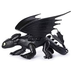 Dreamworks Dragons, Toothless Dragon Figure with Moving Parts, for Kids Aged 4 & Up Dreamworks Dragons, Httyd Dragons, Dreamworks Movies, Cute Toothless, Toothless Dragon, Dragon C, Wings Of Fire, Dragon Trainer, How To Train Your Dragon