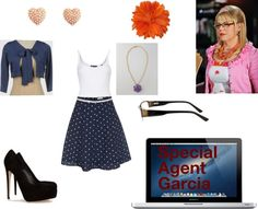 """Special Agent Penelope Garcia"" by f-a-r-4504 ❤ liked on Polyvore"