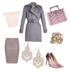 """""""Glam chic in pink !... sparkle"""" by yummycaramel on Polyvore featuring Burberry, Gucci, Jitrois, Jimmy Choo, Betsey Johnson and INC International Concepts"""