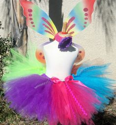 Birthday rainbow tutu set color block by sophiastutus on Etsy, $44.00