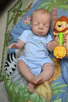 OOAK Reborn baby boy with 3d skin James   baby Newborn doll