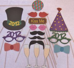 PDF - New Year photo booth props/decorations/craft - printable DIY. $3.95, via Etsy.