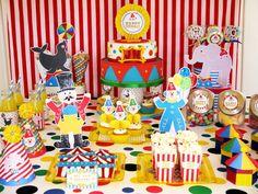 Big Top Circus Carnival Inspirado Idéias e sobremesas festa de aniversário de mesa