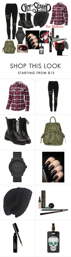 """""""Get scared"""" by bonster-monster on Polyvore featuring Columbia, Topshop, LEFF Amsterdam, Laundromat, INIKA and Bobbi Brown Cosmetics"""