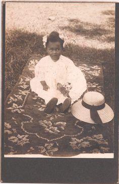 Vintage African American Pretty Little Girl Cabinet Card Photo Black Americana