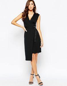 ASOS+Crepe+Wrap+Dress