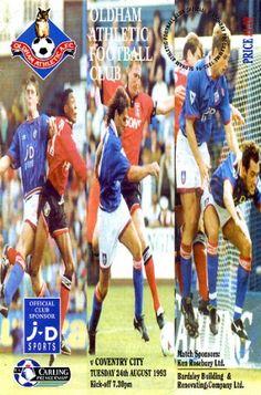 24 August 1993 v Oldham Athletic Drew 3-3