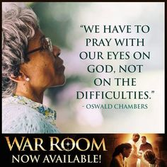 Pray with your eyes on God Not the problem #WarRoom
