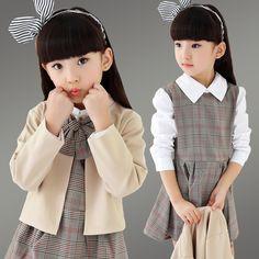 $24.55 (Buy here: https://alitems.com/g/1e8d114494ebda23ff8b16525dc3e8/?i=5&ulp=https%3A%2F%2Fwww.aliexpress.com%2Fitem%2FGirls-school-uniform-4-13-t-fall-two-pieces-sets-of-new-children-children-wear-skirts%2F32735667583.html ) Girls school uniform 4-13 t fall two pieces/sets of new children, children wear skirts during the spring and autumn period for just $24.55
